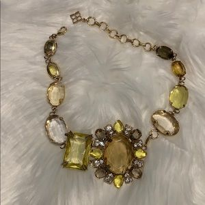 BCBG short stone necklace with detachable brooch